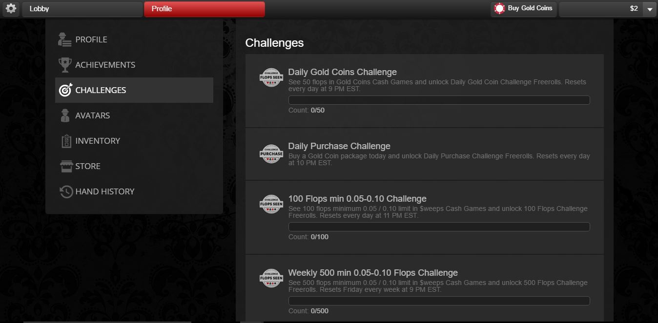 Challenges at Global Poker