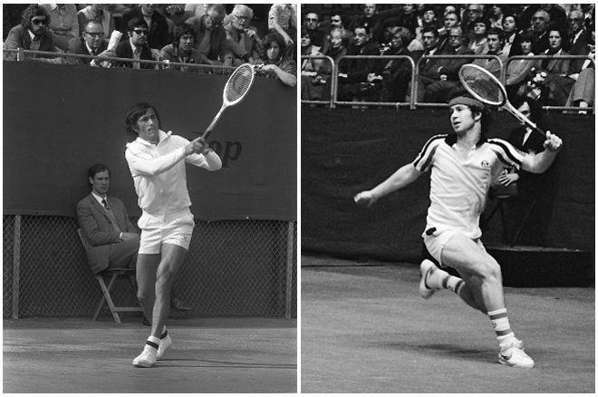 Tennis: John McEnroe and Ilie Nastase