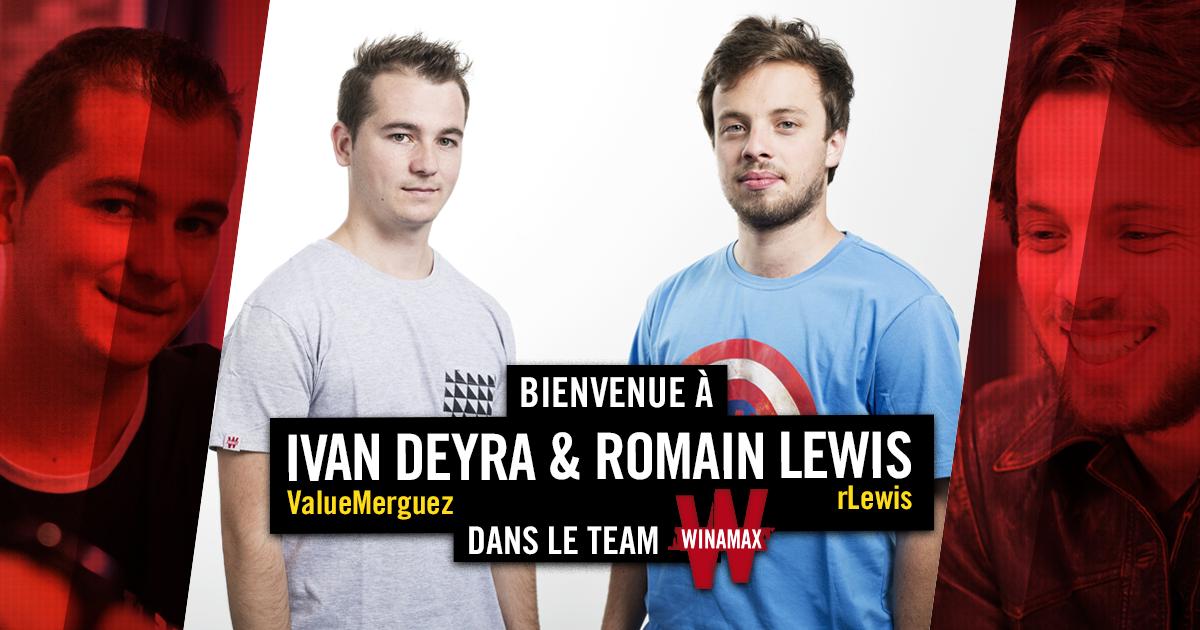 Winamax recrute Romain Lewis et Ivan Deyra   PokerNews