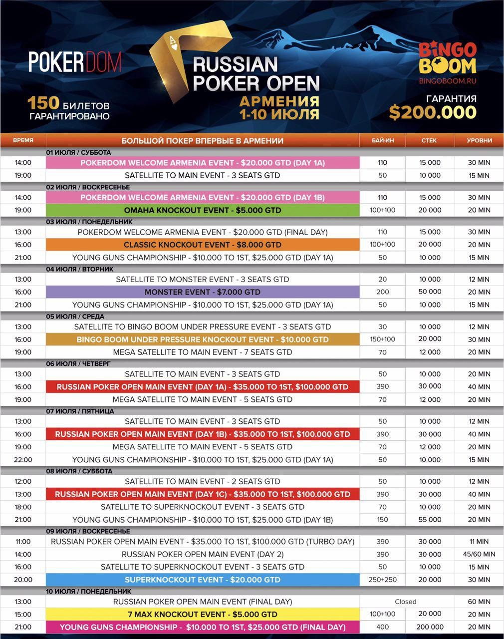 PokerDom Russian Poker Open Армения 101