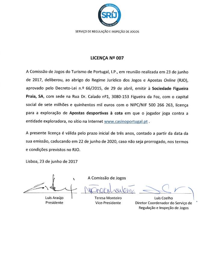 Casino Portugal com Sétima Licença de Jogo 101