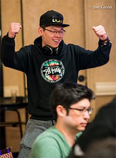 La mano de la semana: Weiqi Liu gana un all in a cinco bandas 101