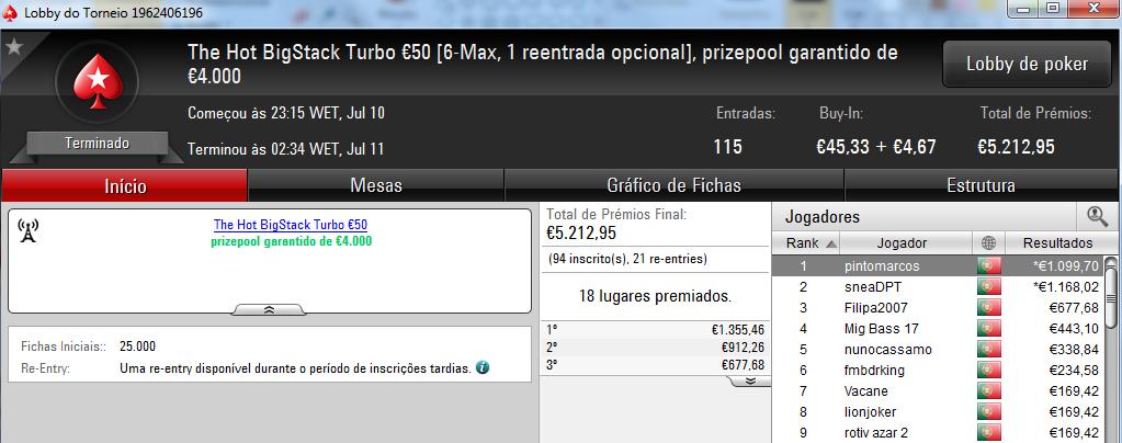 Amlfaria Conquista o Sunday Special €100 e Seabraking o Sunday Storm €10 & Mais 103
