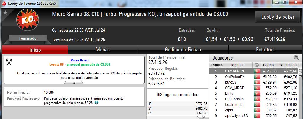 Micro Series da PokerStars.pt com Mais 5 Campeões 105