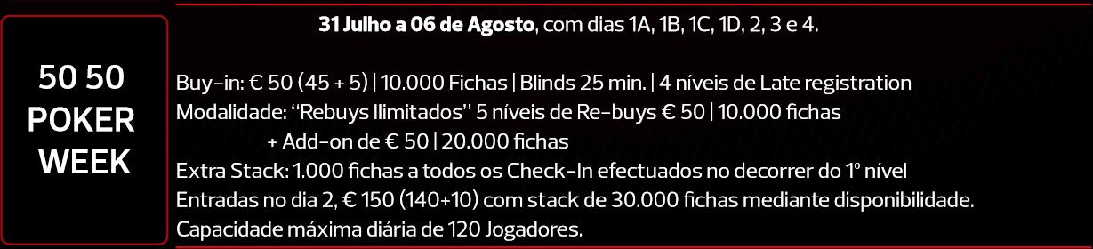 Joaquim Abel Quintas Lidera Rumo ao Dia 2 da 50/50 Poker Week 101