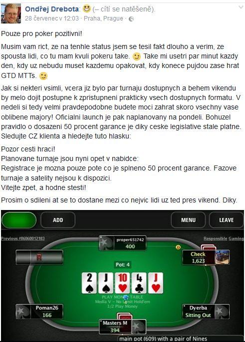 Garantované turnaje konečně také na české platformě PokerStars 101