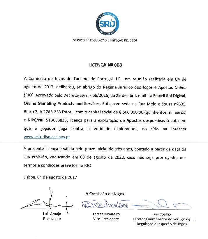 Estoril Sol Casinos Recebe Oitava Licença de Jogo 101