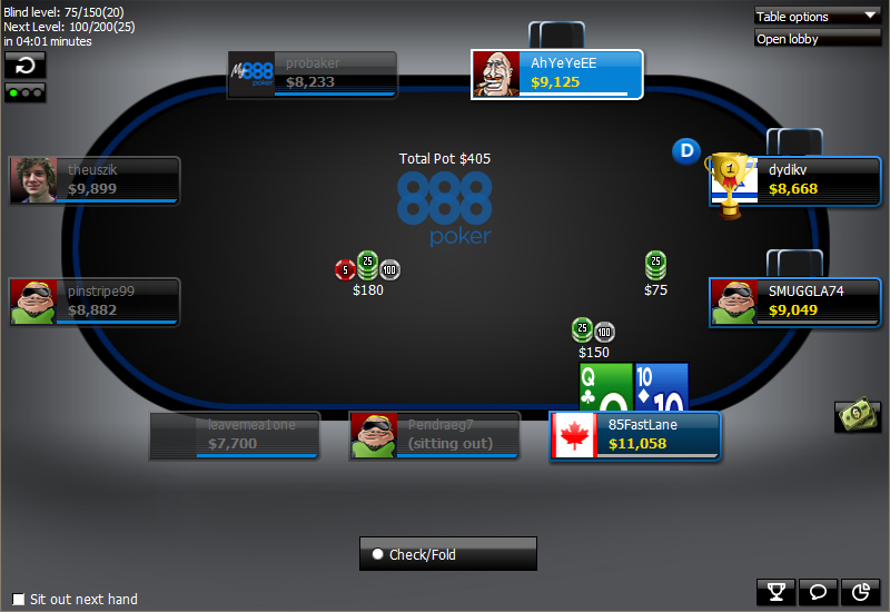 888poker throwing trophy