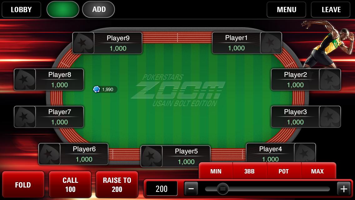 Usain Bolt und PokerStars bringen eine spezielle Zoom Poker Promotion 101