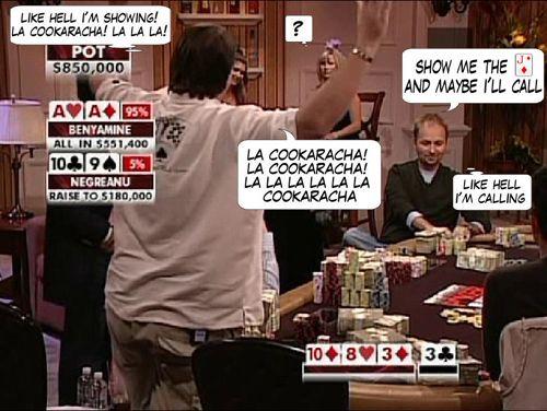 High Stakes Poker Cómico! Negreanu vs Benyamine 123