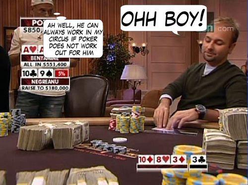 High Stakes Poker Cómico! Negreanu vs Benyamine 121