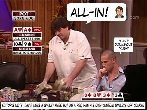 High Stakes Poker Cómico! Negreanu vs Benyamine 120