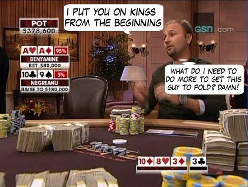 High Stakes Poker Cómico! Negreanu vs Benyamine 118