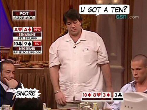 High Stakes Poker Cómico! Negreanu vs Benyamine 115
