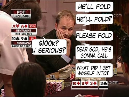 High Stakes Poker Cómico! Negreanu vs Benyamine 114