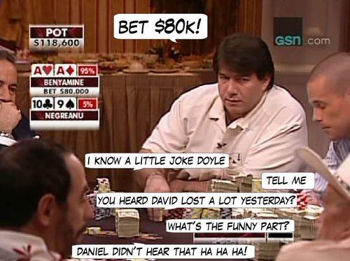 High Stakes Poker Cómico! Negreanu vs Benyamine 112