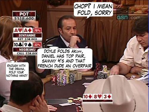 High Stakes Poker Cómico! Negreanu vs Benyamine 110