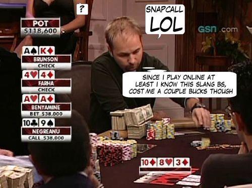 High Stakes Poker Cómico! Negreanu vs Benyamine 108