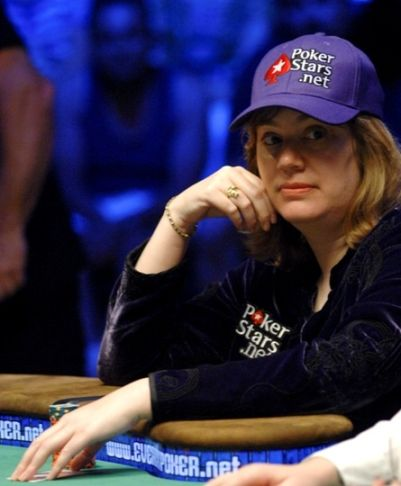Kathy Liebert Reps PokerStars at Final Table 101