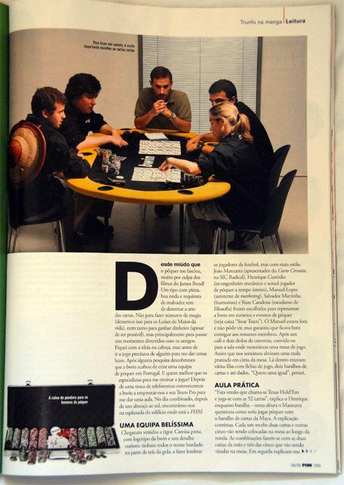 Jogadores Equipa Bwin Poker Entrevistados na FHM 102