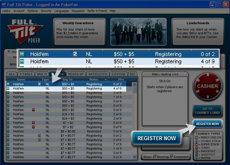 Torneios Matrix na Full Tilt Poker 103