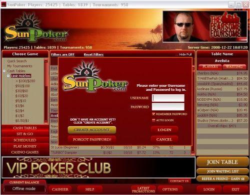 SunPoker Anunciou Transição Para a Rede iPoker 101