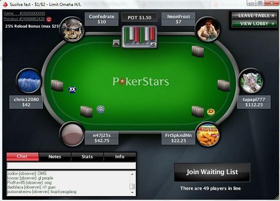 PokerStars 25 milliarder handen endte i deling! 101