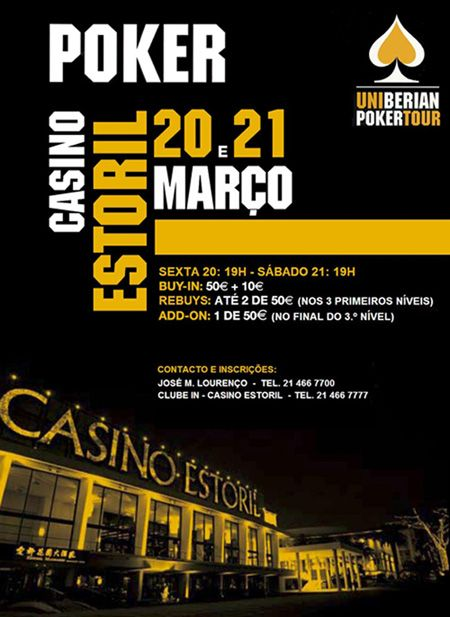 Uniberian Poker Tour – 20 e 21 Março no Casino Estoril 101