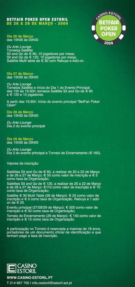 Satélites ao Vivo para o Betfair Poker Open 101