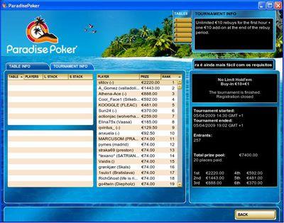 """Sérgio """"sfdcv"""" Vicente Ganha o €10R na Paradise Poker 101"""