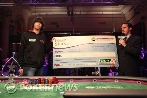 Dominik 'DOMinator' Nitsche Vence PokerStars.net LAPT Mar del Plata 101