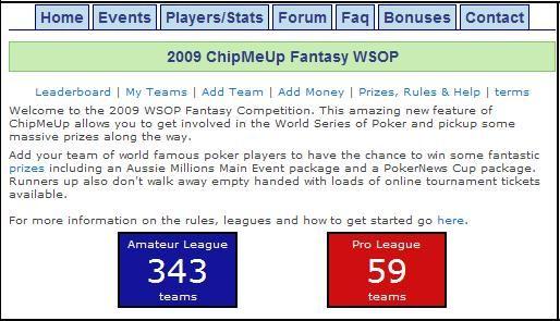 ChipMeUp Fantasy League