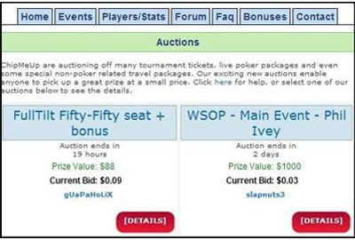 ChipMeUp Auctions