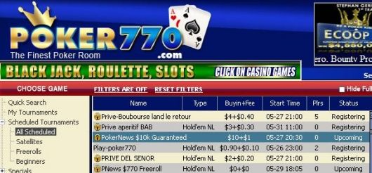 PokerNews ,000 garantiturnering hos Poker770! 101