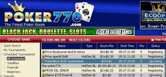 PokerNews erbjuder två  000 turneringar hos Poker770! 101