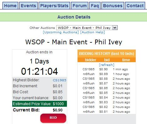 Phil Ivey Auction on ChipMeUp