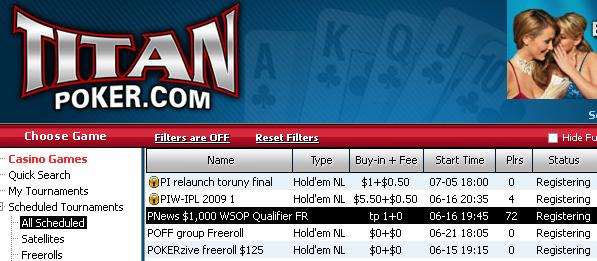 PokerNews $1k WSOP* Qualifier Freerolls - Titan Poker