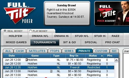 Exclusive ,000 Cash Freerolls at Full Tilt Poker 101