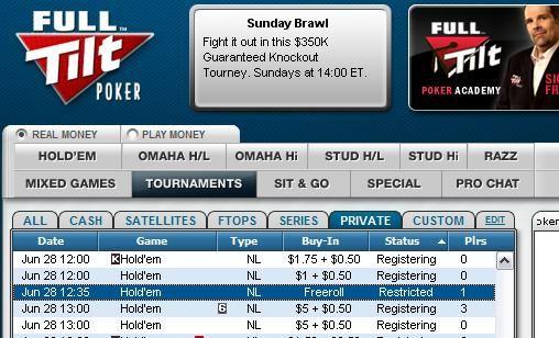 Exkluzivní 00 Cash Freerolly na Full Tilt Pokeru 101