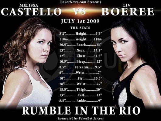 Boxeo entre chicas de póquer: Boeree vs. Castello en el Casino Rio de Las Vegas 101