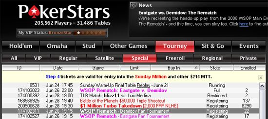 The Rematch - Eastgate vs Demidov na PokerStars 101
