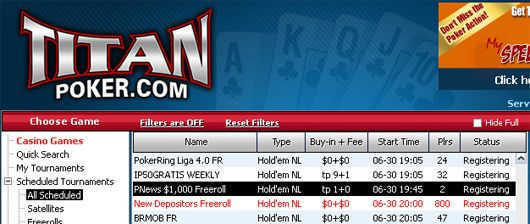,000 PokerNews Cash Freeroll na Titan Poker! 101