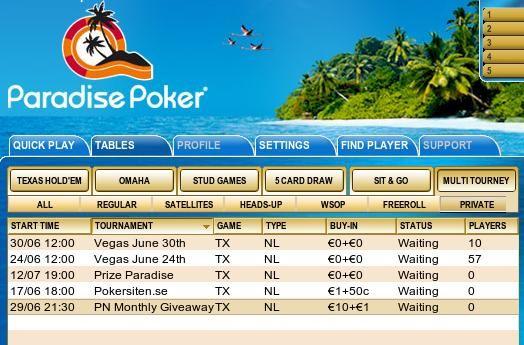 Laptop, LCD TV og iPod i spesialpremier hver måned hos Paradise Poker! 101