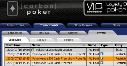 $500 CASH + Seat to PokerNews Cup Qualifier on offer at Carbon Poker!