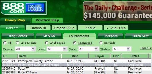 扑克新闻网250美元免费比赛—感谢888扑克 101