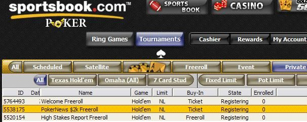 $2,000 Cash Up for Grabs at Sportsbook!