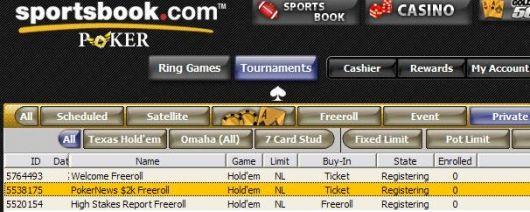 Sportsbook的2000美元免费比赛 101