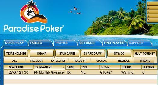 Võida tänasel Paradise Pokeri eriturniiril laptop või LCD-teler! 101