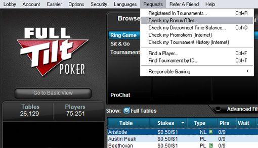 Reclame um Bónus de 0 na Full Tilt Poker! 101