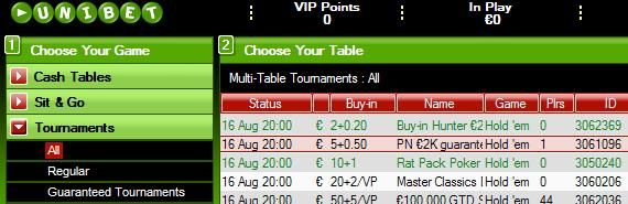 EUR2,000 Guaranteed Tourney every Sunday open to all!